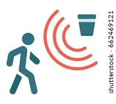 motion detector flat icon ... | Shutterstock .eps vector #662469121