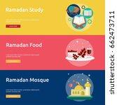 ramadan conceptual banner design | Shutterstock .eps vector #662473711