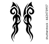 tattoo tribal vector design.... | Shutterstock .eps vector #662473957