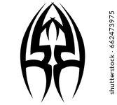 tattoo tribal vector design....   Shutterstock .eps vector #662473975