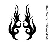 tattoo tribal vector design.... | Shutterstock .eps vector #662473981