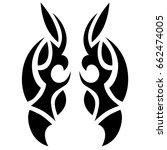 tribal tattoo art designs.... | Shutterstock .eps vector #662474005