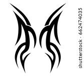 tattoo tribal vector design.... | Shutterstock .eps vector #662474035