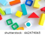 toys kids background. wooden... | Shutterstock . vector #662474065