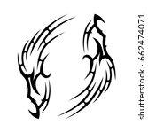 tattoo tribal vector design.... | Shutterstock .eps vector #662474071