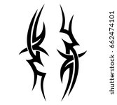 tattoo tribal vector design.... | Shutterstock .eps vector #662474101