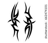tribal tattoo art designs.... | Shutterstock .eps vector #662474101