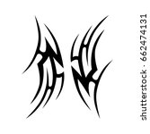 tribal tattoo art designs.... | Shutterstock .eps vector #662474131