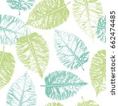 seamless pattern with imprint... | Shutterstock .eps vector #662474485