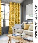 beautiful living room in luxury ... | Shutterstock . vector #662477539