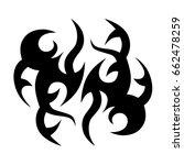 tattoo tribal vector design....   Shutterstock .eps vector #662478259