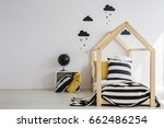 monochromatic decoration of... | Shutterstock . vector #662486254