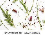 herbs and spices   background... | Shutterstock . vector #662488531