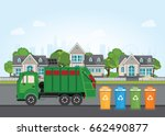 city waste recycling concept... | Shutterstock .eps vector #662490877