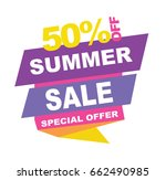 summer sale banner. vector... | Shutterstock .eps vector #662490985