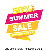 summer sale banner. vector... | Shutterstock .eps vector #662491021