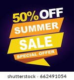 summer sale banner. vector... | Shutterstock .eps vector #662491054