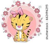 greeting card cute cartoon... | Shutterstock .eps vector #662496295