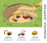 colorful isometric coal... | Shutterstock .eps vector #662497264
