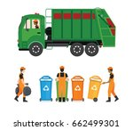 city waste recycling concept... | Shutterstock .eps vector #662499301