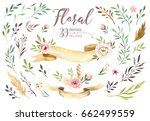 hand drawing isolated boho... | Shutterstock . vector #662499559