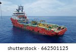 Small photo of May 02, 2017 - Multipurpose Supply Vessel (MPSV) Executive Stride alongside at Floating Production Storage Offtake (FPSO) Cendor at South China Sea