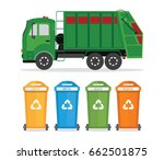 city waste recycling concept... | Shutterstock .eps vector #662501875