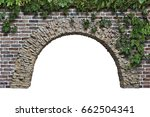 stone arch in the wall isolated ...   Shutterstock . vector #662504341