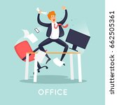 businessman is happy in the... | Shutterstock .eps vector #662505361