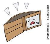 vector cartoon wallet empty...   Shutterstock .eps vector #662506885