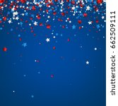 blue background with red  white ... | Shutterstock .eps vector #662509111