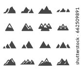 vector black mountains icons... | Shutterstock .eps vector #662509891