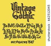 decorative vintage gothic... | Shutterstock .eps vector #662512045