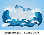 Stylized Cartoon Ocean Waves...