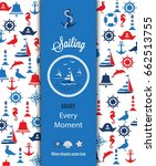 nautical sailing banner and... | Shutterstock .eps vector #662513755