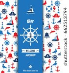 nautical sailing banner and... | Shutterstock .eps vector #662513794