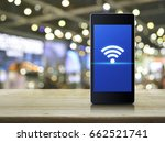 wi fi connection icon on modern ... | Shutterstock . vector #662521741