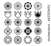 geometric flowers  abstract... | Shutterstock .eps vector #662523451