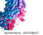 color drop in water isolated on ... | Shutterstock . vector #662528617