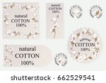 cotton logos  icons  labels ... | Shutterstock .eps vector #662529541