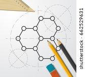vector blueprint graphene icon... | Shutterstock .eps vector #662529631
