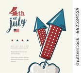 4th of july poster. grunge... | Shutterstock .eps vector #662534539