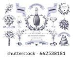 vector set of decorative design ... | Shutterstock .eps vector #662538181