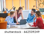 startup business people group... | Shutterstock . vector #662539249