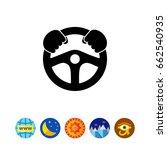 steering wheel simple icon | Shutterstock .eps vector #662540935