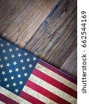 american flag background.... | Shutterstock . vector #662544169