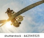 bottom view of young skater...   Shutterstock . vector #662545525