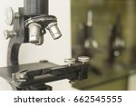 close up vintage microscope | Shutterstock . vector #662545555