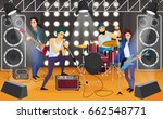rock band on the stage. musical ... | Shutterstock .eps vector #662548771