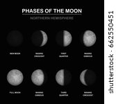 phases of the moon chart ...   Shutterstock .eps vector #662550451